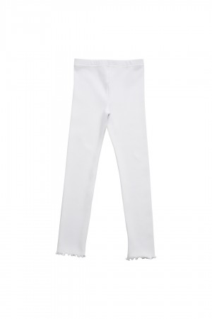 Leggings Fiori Whisper White