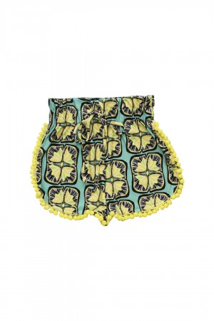 Shorts Bari Lemon Sunflowers