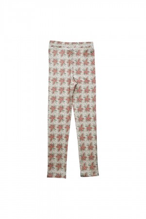 Legginsy Fiori Peach Flowers